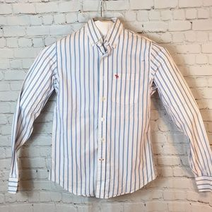 Abercrombie & Fitch blu/red striped button down